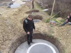 Выкапывание канализации