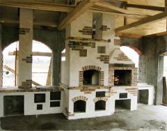 Кладка печного комплекса с русской печью