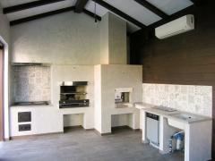 Кладка печного комплекса в летней кухне