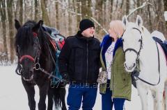 Подарочный сертификатина романтическую конную прогулку для двоих