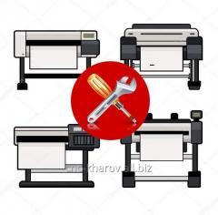 Диагностика и ремонт рулонных и планшетных плоттеров