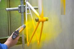 Tintura in polvere dei prodotti metallici