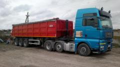Вантажные перевозки - аренда тягача MAN