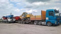 Аренда трала для негабаритных грузовых перевозок