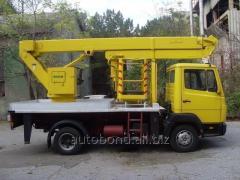 Аренда, услуги автовышек для проведения высотных работ от 14 до 28 метров. Аренда автовышки Одесса