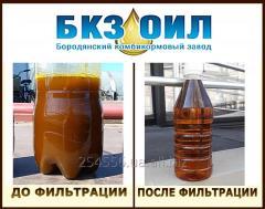 Услуги фильтрации растительного масла