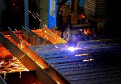 Plasma cutting of metal on the