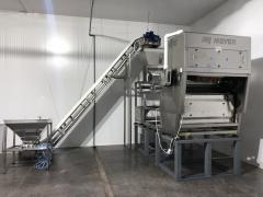 Optical sorting of frozen products (SORTEX)