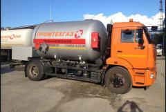 Перевозка сжиженного газа в автоцистернах (газовозах)
