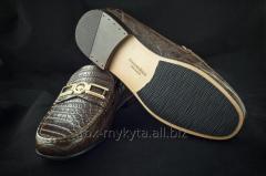 Мокасины из кожи крокодила (пошив на заказ)