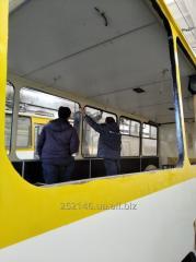 Кузовные работы, покраска троллейбуса