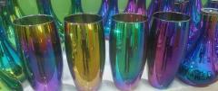 Плафоны стеклянные, керамические металлические вакуумная металлизация, хромирование, золочение (ПВД покрытие)