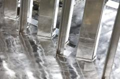 Galvanizing steel parts and structures