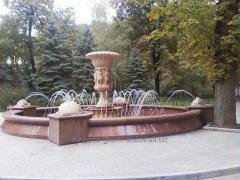 Установка, шлифовка гранитных фонтанов