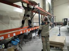 Dismantling of storage racks, trade racks and other equipment