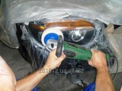 Полировка стекла автомобильных фар
