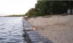 Укрепление берегов озера и плавустройств