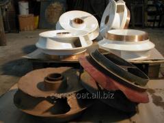 Ремонт и восстановление деталей проточной части насосов