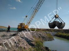 Работы по устройству дамб и плотин