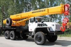 Автокран, до 40 тонн, Урал