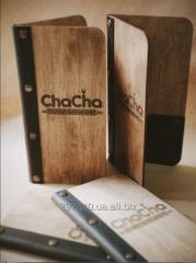 Дизайн, разработка и производство меню и счетниц для ресторанов