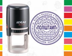 Новая печать ТОВ/ООО на оснастке Ideal 400r