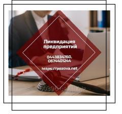 Ліквідація ТОВ. Ліквідація ФОП. Послуги по експрес-ліквідації фірми Київ.