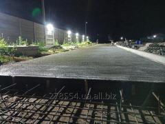 Бетонирование дороги, устройство бетонных дорог