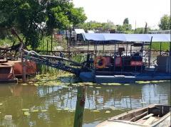 Очистка водоемов от ила земснарядом DRW