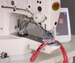 Сшивание каната, веревки, и др. строчкой ЗигЗаг на швейном автомате