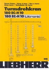Аренда башенного крана Liebherr 180ЕС-Н Litronic
