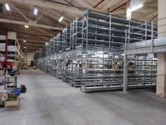Монтаж (збірка і установка) мезоніном стелажів і складських Платформ