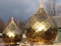 Услуги по изготовлению куполов,  крестов, ...