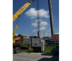 Installation dismantle of the equipment, machines,