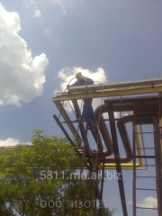 Electric installation work, laying of cable,