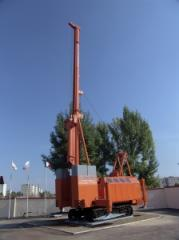Works on the device of piles foundations