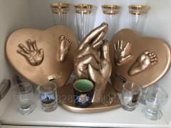 Изготовление скульптурных копий рук влюблённых,