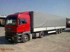 Transportation of goods from 1 ton to 20 tons.