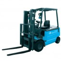 Electric lift truck with a loading capacity from