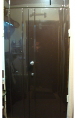 Finishing panel board armor doors