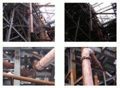 Installation of pipelines futerovany basal