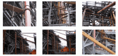 Mounting of steel pipelines, shutoff valves