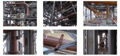 Repair of pipelines, futerovanny stone casting,