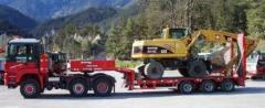 Перевозка грузов низкорамным тралом