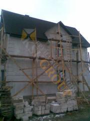 Замена старого покрытия крыши на кровлю с битумной