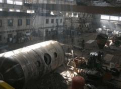 Цех по изготовлению емкостей и резервуаров стальных цилиндрических емкостью 10, 25, 50, 75, 100 м.куб