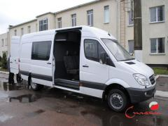 Re-equipment of minibuses