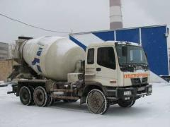 Delivery of concrete mixes