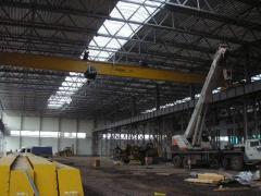 Installation, repair of bridge cranes