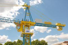 Installation of tower cranes